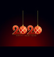 christmas style 2020 happy new year background vector image