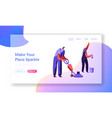 cleaning company team service concept staff vector image vector image