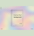 color holographic background vector image