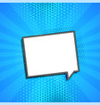 comic chat bubble on blue background with vector image vector image