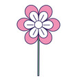 cute flower decorative icon vector image vector image