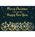 dark Christmas and New Year background vector image vector image