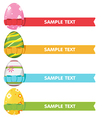 Easter Egg Ribbon Border Color vector image vector image