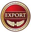 Export Red Label vector image