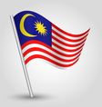 flag malaysia vector image vector image