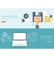 Flat background Computing vector image vector image
