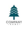 flat design pine trees logo each element is vector image vector image