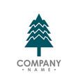 flat design pine trees logo each element vector image