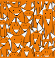 foxes big family seamless pattern for your design vector image vector image
