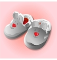 Funny baby booties for newborn vector image