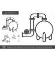 gas refinery line icon vector image