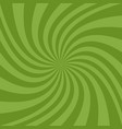 geometric swirl background - design from green vector image vector image