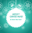 Green Christmas greeting card vector image vector image