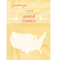 greetings from united states vector image vector image