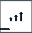 growing icon simple human vector image vector image