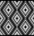 hand drawn black rhombus pattern vector image