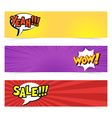 hand drawn pop art banner with speech bubble vector image