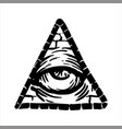 hand drawn sketch of the illuminati symbol vector image