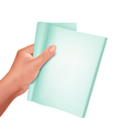 hand holding note book vector image