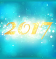 happy new year 2017 on blue abstract background vector image vector image