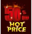Hot price digital design vector image vector image