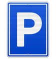 Isolated Parking Sign vector image vector image