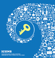 Key icon Nice set of beautiful icons twisted vector image vector image