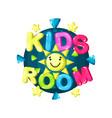 kids room logo bright colorful emblem for vector image
