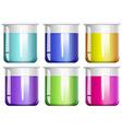 liquid substance in glass beakers