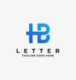 logo abstract letter h and b line art style vector image vector image