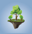 low polygonal geometric trees and island vector image vector image