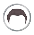 Man s hairstyle icon in cartoon style isolated on vector image vector image