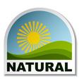 natural landscape sticker vector image vector image