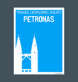 petronas kuala lumpur malaysia monument landmark vector image