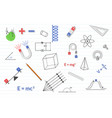 physics education science with various objects vector image vector image