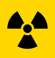 radioactive warning yellow circle sign vector image vector image