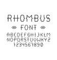 rhombus font alphabet vector image