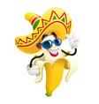 ripe banana tropical fruit vector image vector image