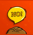 say no banner speech bubble vector image