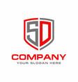 sd logo vector image