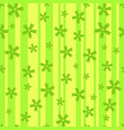 seamless background of flowers on the stripes vector image vector image
