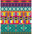 Seamless colorful aztec pattern with birds and arr vector image vector image