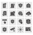 security icon set isolated for vector image vector image