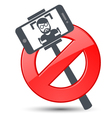 Selfie not allowed - prohibitory sign vector image