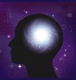 serenity galaxy brain composition vector image vector image