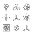 set icons fans vector image