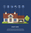 smart home and internet of things vector image vector image