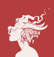 smoking girl vector image vector image