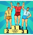 Sport first second and third place on the podium vector image vector image