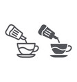 sugar line and glyph icon drink and sweet sugar vector image vector image